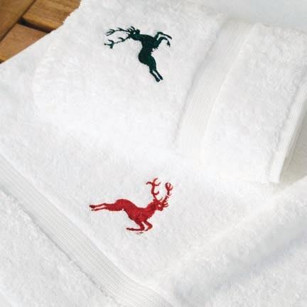 Handtuch Hirsch Farbe: weiß / silber