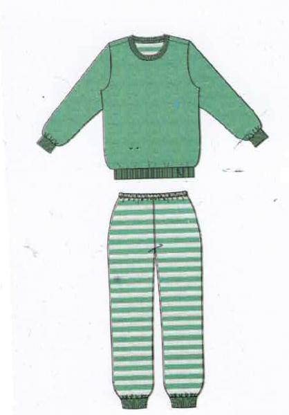 Damen Frottee Schlafanzug 192140