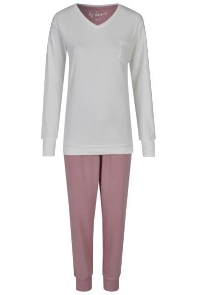 Damen Pyjama Set 589-00 creme