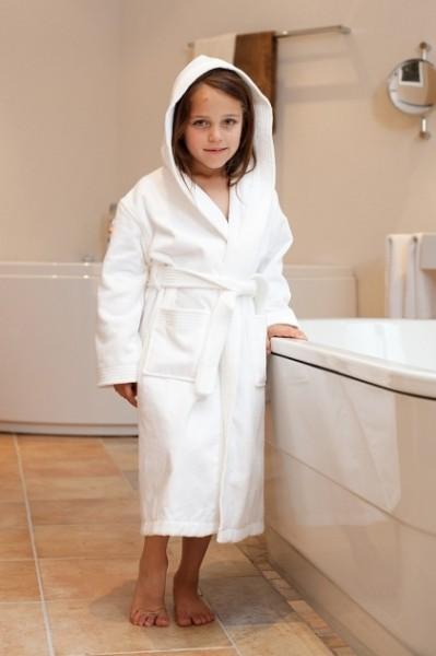 Kinderbademantel 582 weiß