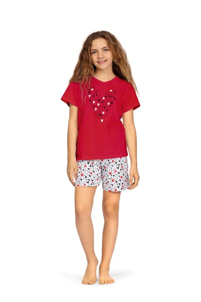 Kinder Nachthemd 211504/26 rot