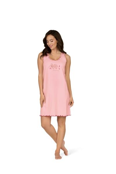 Damen Nachtemd Ärmellos 181260 rosa