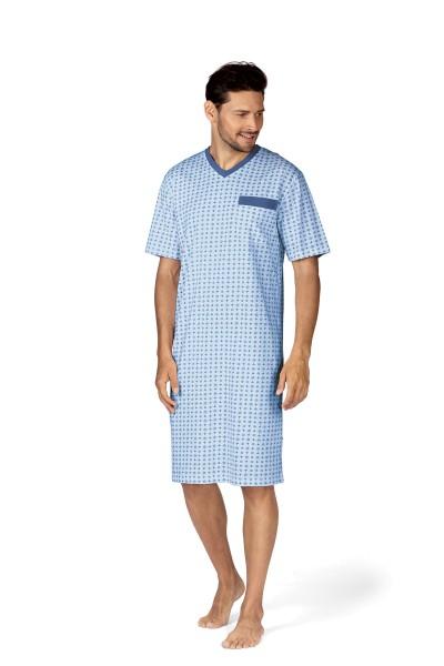 Herren Nachthemd 191701/37 hellblau