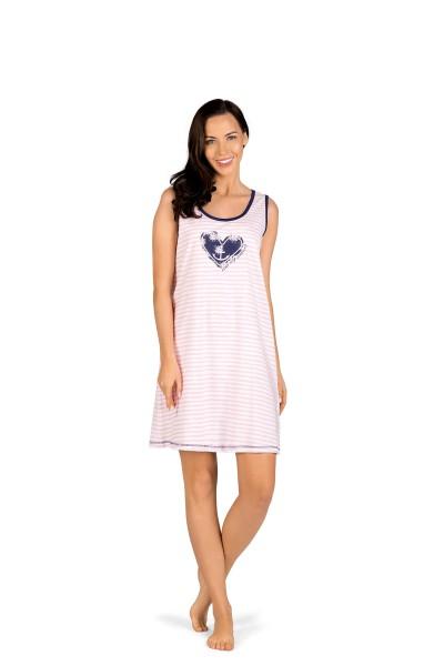 Damen Nachthemd 191260 ohne Arm gestreift