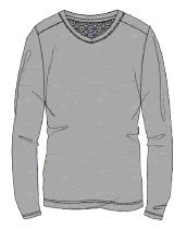 Herren Jersey Shirt 633-00 langarm grau
