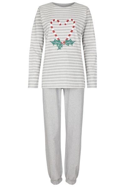 Damen Pyjama Set 582-00 grau