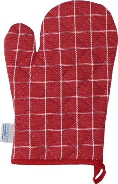 Grillhandschuh Baumwolle in rot-weiß 22x22cm