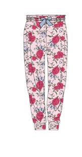 Damen Hose 560-00 lang mit Blumen