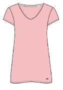 Damen Sleepshirt 671-00 rosa