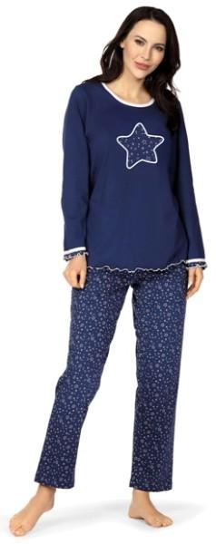 Damen Schlafanzug lang 192360/18 Moon
