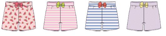 Damen Shorts 695-00