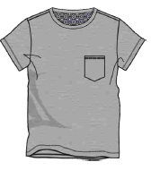 Herren Jersey T-Shirt 632-00 Grau
