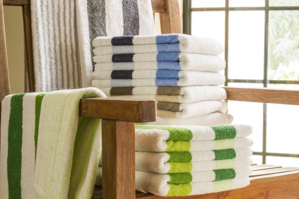 Handtuch Classic Stripes - grün 50x100cm