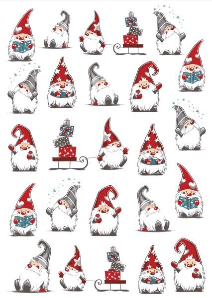 Geschirrtuch Halbleinen Wichtel Weihnachten