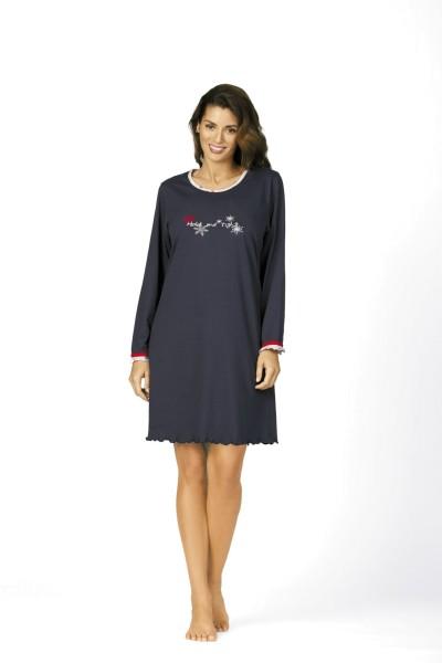 Damen Nachthemd 62209 dunkelblau