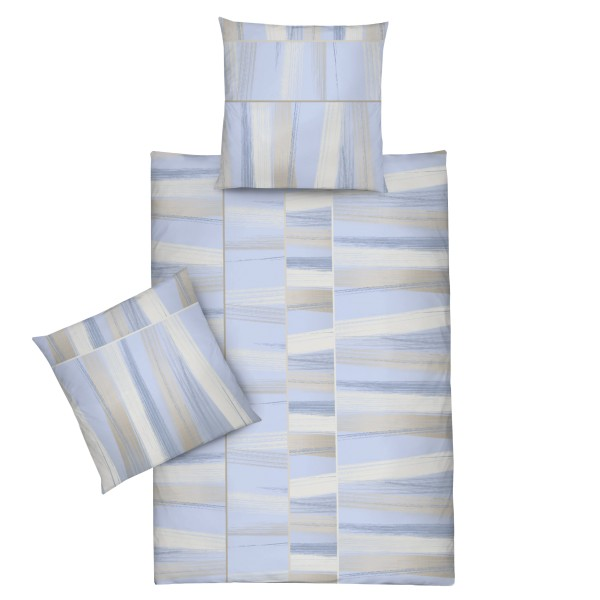 biber bettw sche 155x220cm blau braun gemustert frottee welt. Black Bedroom Furniture Sets. Home Design Ideas