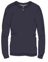 Herren Jersey Shirt langarm 633-00 blau