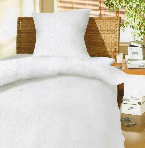 Seersucker Bettwäsche In Weiß 135x200cm Frottee Welt