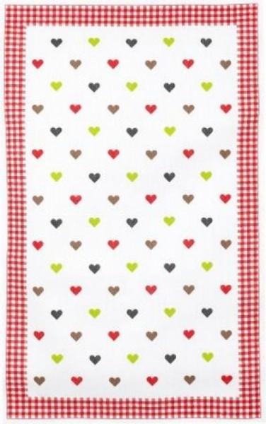 Geschirrtuch Baumwolle Motiv: Herz