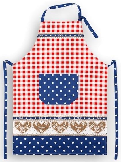 Schürze Motiv: Oktoberfest, bleu-weiß-rot