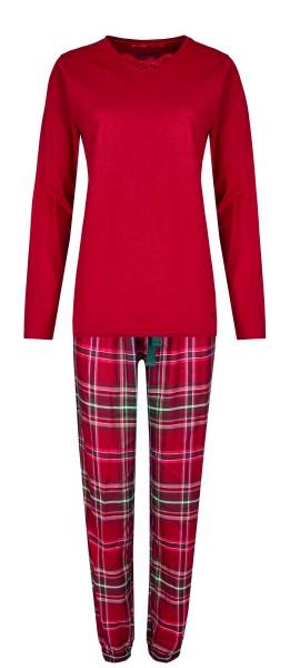 Damen Pyjama Set 582-00 bordeaux