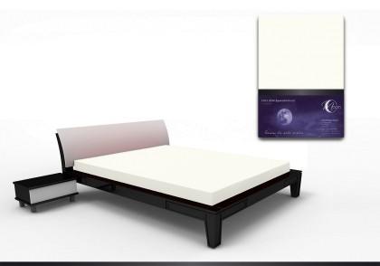 Spannbettlaken black line 150x220cm weiß