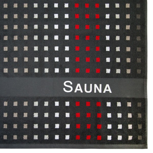 Saunatuch Karo grau 80x200cm