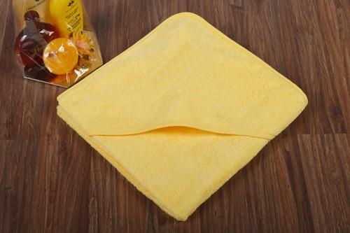 Kapuzentuch ohne Stickerei - citrone