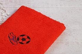 Stickerei Fußball rot verschiedene Größen
