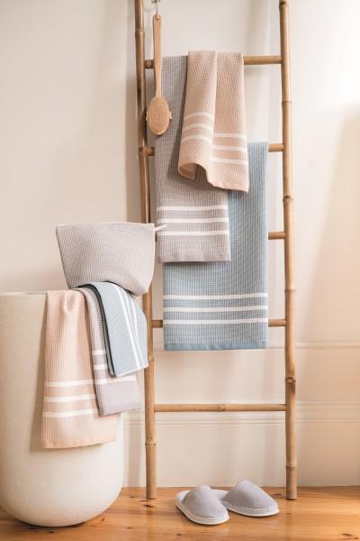 Waffel Tuch Serie grau/blau verschiedene Größen