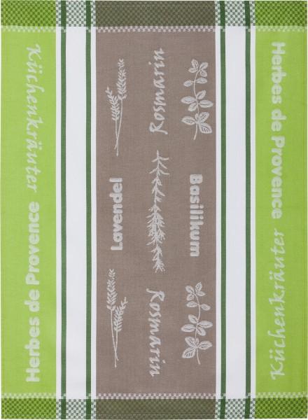 Geschirrtuch Baumwolle Motiv: Herbes de Provance