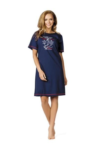 finest selection 1a4f6 99656 Damen Nachthemd kurzarm 61201 dunkelblau