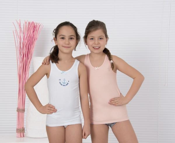 Mädchen Unterhemd 2er Pack