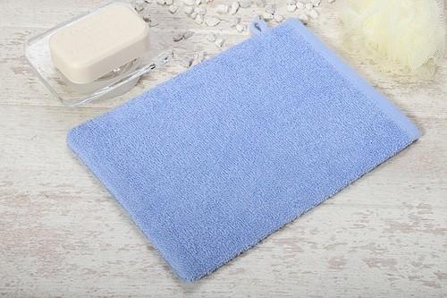 sowh Waschhandschuh Star hellblau 17x22cm