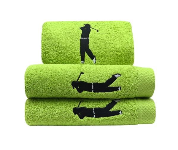 Handtuch Golfer in grün Größe 50x100cm