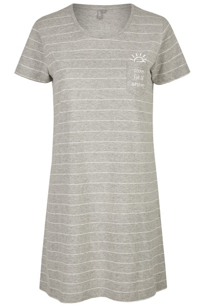 Damen Sleepshirt 691-00 grau