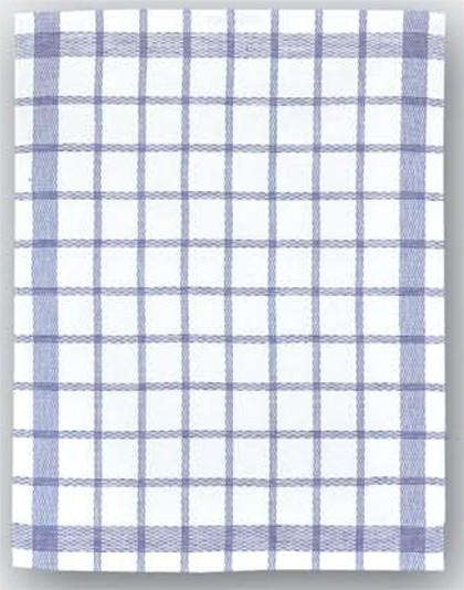 Geschirrtuch Halbleinen Farbe: weiß/blau kariert