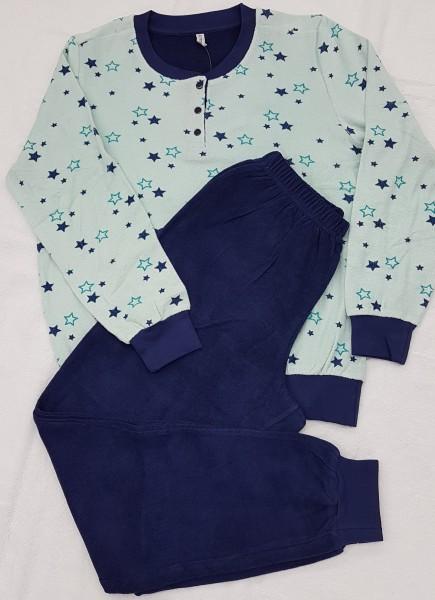 Damen Frottee Schlafanzug 75537 Sterne Gr. 38