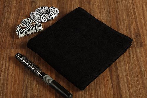 handtuch friseur mikrofaser farbe schwarz gr e 50x90cm frottee welt. Black Bedroom Furniture Sets. Home Design Ideas
