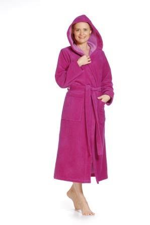 Kapuzenbademantel 4046 pink Größe XXL