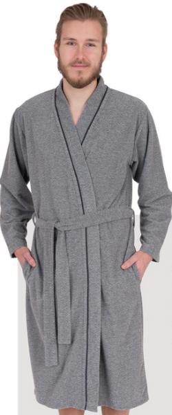 Kimono Frottee Stretch Bademantel 2716 grau