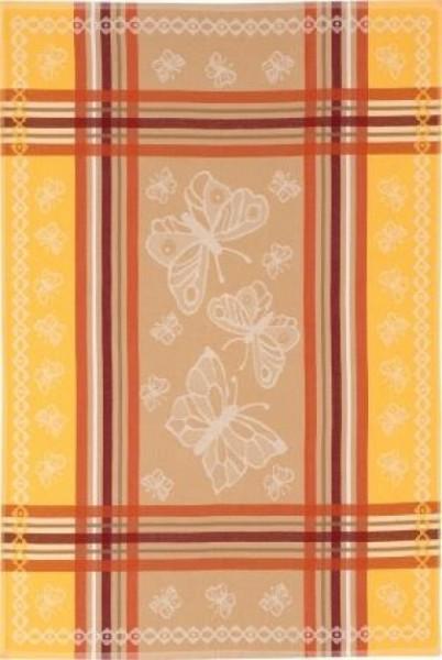 Geschirrtuch Baumwolle Motiv: Schmetterlinge, gelb