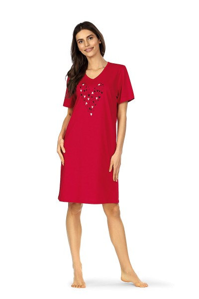 Damen Nachthemd 211211/26 rot