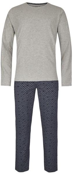 Herren Pyjama Set 546-00 hellgrau