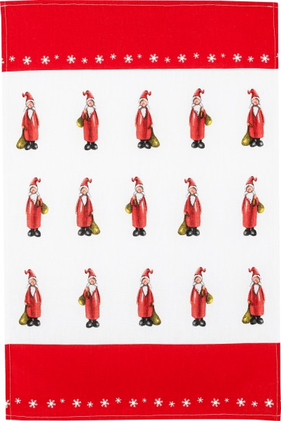 Küchentuch Baumwolle Motiv: Weihnachtsmänner