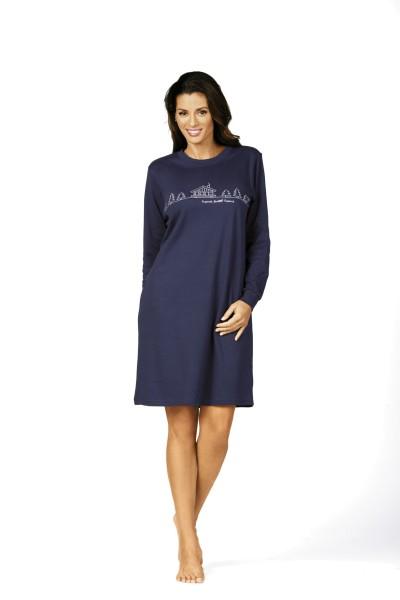 Damen Nachthemd 62213 dunkelblau