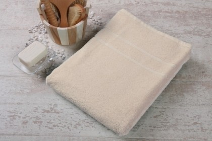 Duschtuch Line-Star Farbe: sand Größe: 70x140cm