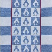 Geschirrtuch Jaquard Motiv: Pinguine blau