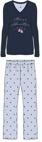 Damen Pyjama Set 587-00 marine