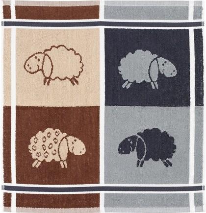 Frottier Geschirrtuch Baumwolle Motiv: Schafe
